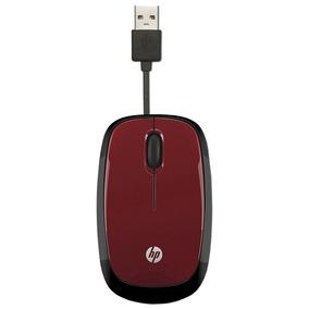 Mouse Usb Hp Retrátil X1250 Vermelho