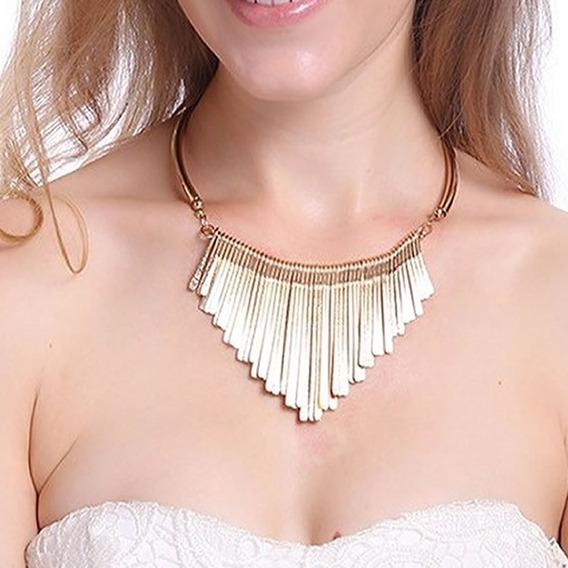 Colar Feminino Dourado Folheado Ouro 18k Esposa Bodas C39