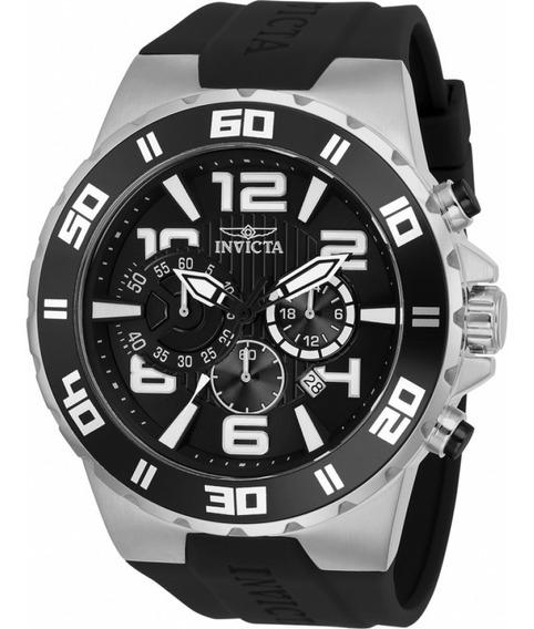 Relógio Masculino Invicta Pro Diver 24668 Prata/preto Suiço