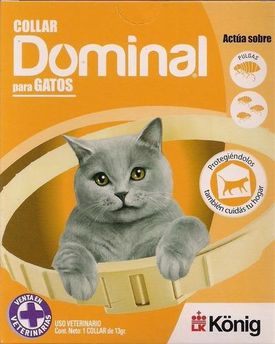 Imagen 1 de 2 de Collar Anti Pulgas Y Garrapatas Dominal Gatos!!