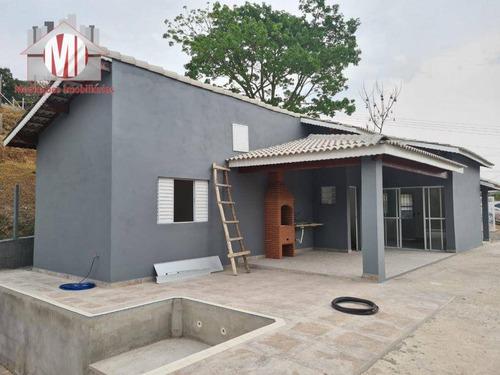 Imagem 1 de 24 de Ótima Chácara, Em Fase De Acabamento, Com 2 Dormitórios, Piscina, Vista Deslumbrante, À Venda, 500 M² Por R$ 320.000 - Zona Rural - Pinhalzinho/sp - Ch0957