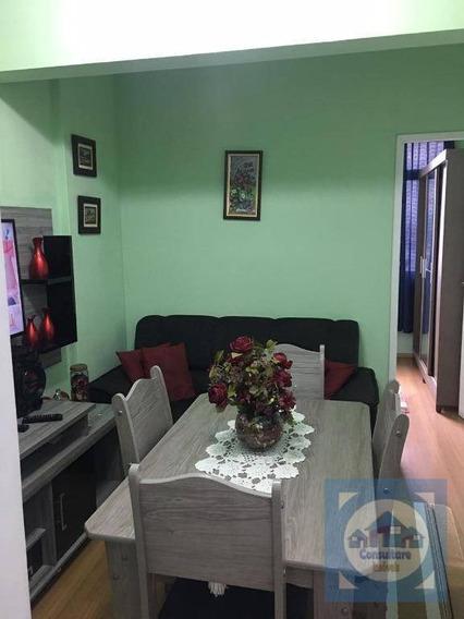 Apartamento Com 1 Dormitório À Venda, 44 M² Por R$ 170.000 - José Menino - Santos/sp - Ap3852