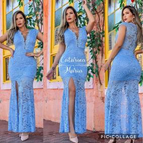 8d146a2f99 Vestido Azul Bebe Madrinha Curto - Vestidos Femeninos com o Melhores ...