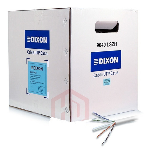 Cable Utp Dixon Cat6 9040 Lszh Blanco Caja 305 Mts