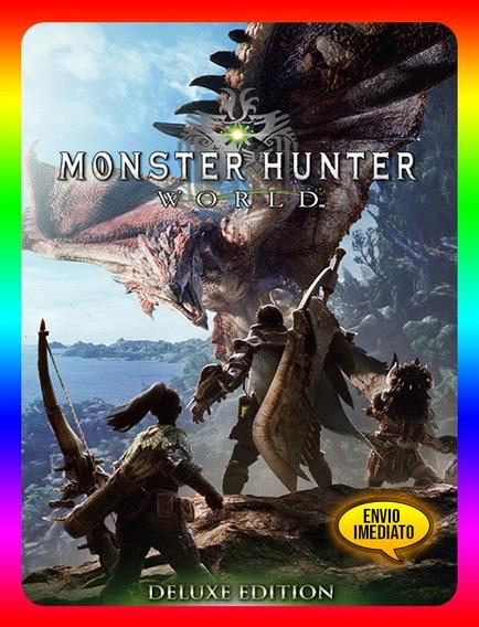 Monster Hunter World Deluxe Pc - Steam Key (envio Já)