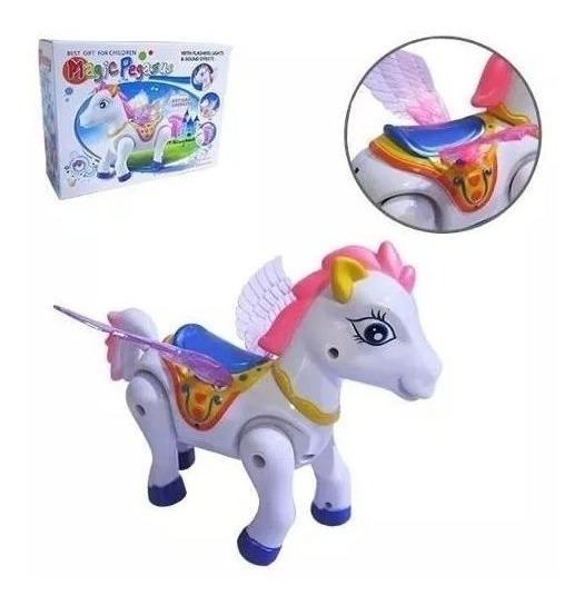 Cavalo Com Movimento Magic Pegasus Com Som E Luz Brinquedo