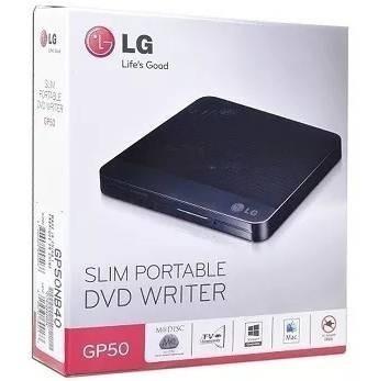 Lectora Y Grabadora Dvd Lg Slim Portable Writer Gp50