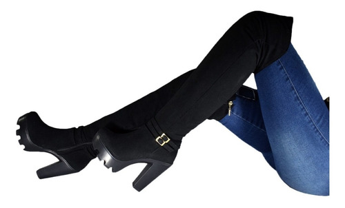 Botas Elegantes Caña Alta Para Dama Tacón Alto!