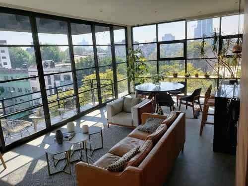 Lujoso Departamento Penthouse En Venta En Condesa