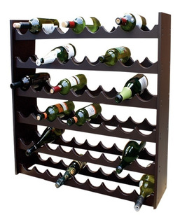 Porta Botellas 100% Madera Para 54 Botellas Hogare