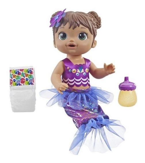 Baby Alive Boneca Linda Sereia Morena Original - Hasbro