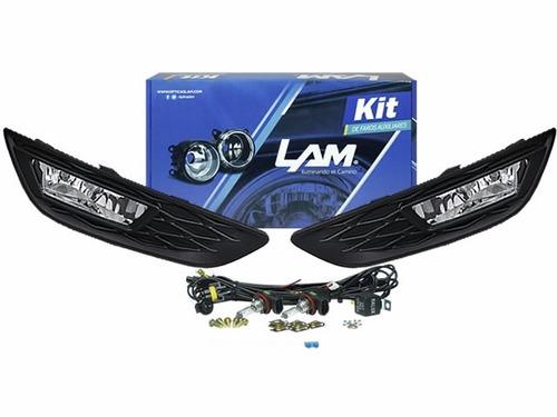 Kit Faros Auxiliares Ford Focus Kinetic 2015 16 17  18     C