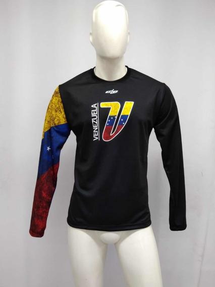 Camisa Venezuela Manga Tricolor