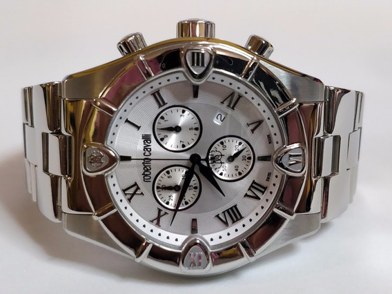 Reloj Roberto Cavalli Para Hombre Swiss Made Cristal Zafiro