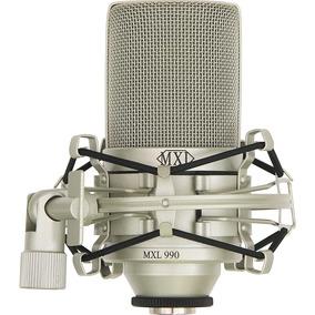 Microfone Condensador Mxl 990 Com Maleta E Shockmount Novo