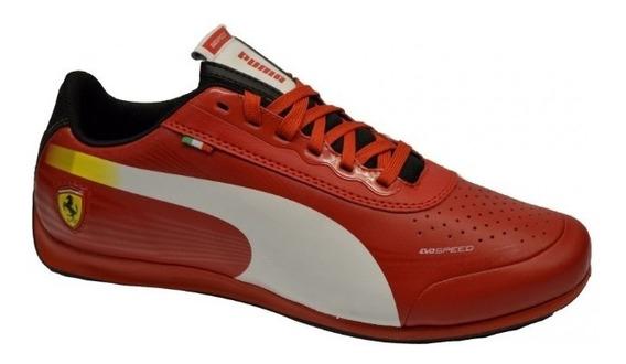 Tênis Puma Ferrari Evo Speed Vermelho Original