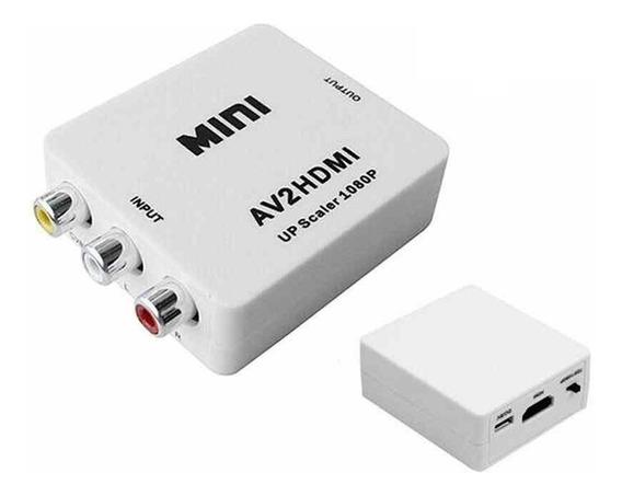 Conversor Adaptador De Video Rca Av A Hdmi 720p 1080p