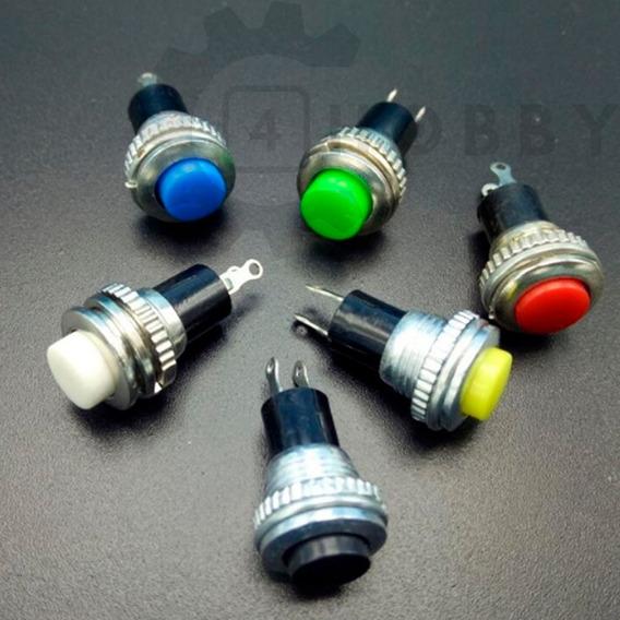 Botão Interruptor Metálico De Pulso 10mm Coloridos *910401