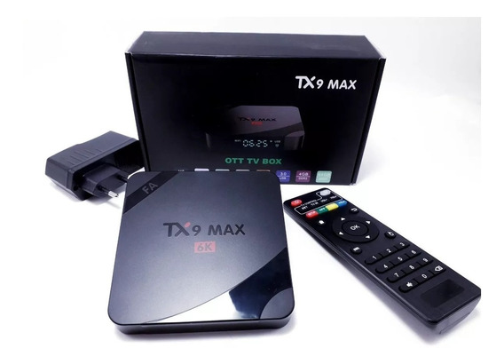 Transforme Sua Tv Smart Box Tv Tx9 Android 9.0 64gb 4g Ram