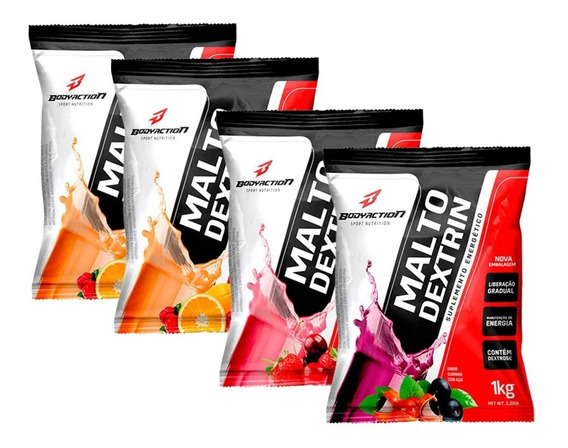 4x Maltodextrina - 1kg - Body Action