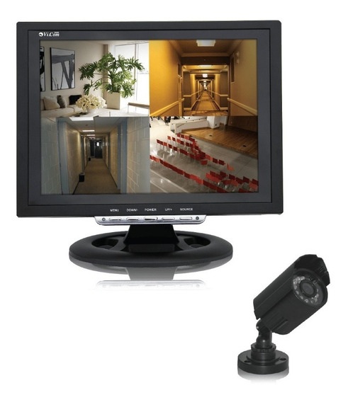 Kit Video Vigilancia Lcd Vicom 12q Cctv + 1 Camara Seguridad
