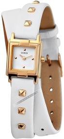 Relógio Guess Feminino Original Dourado Pulseira De Couro