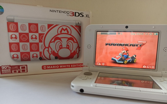 Nintendo 3ds Xl Mario White Edition (impecável)