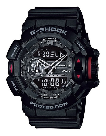 Relógio Casio G-shock Masculino Anadigi Preto Ga-400-1bdr