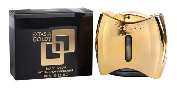Perfume New Brand Extasia Goldy Fem 100ml - Original Lacrado