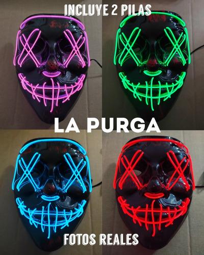 Mascara Luces Led La Purga The Purge Halloween