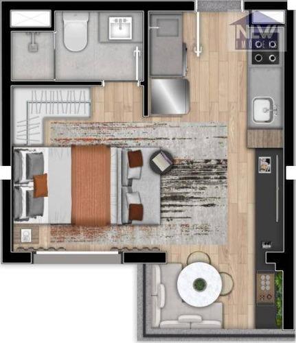 Apartamento À Venda, 28 M² Por R$ 378.983,77 - Brooklin Paulista - São Paulo/sp - Ap3346