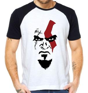 Camisetas God Of War Ps4 Kratos Face Camisas X Box Cratos