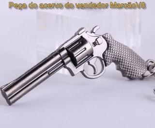 Lindo Chaveiro De Metal Em Formato De Revolver