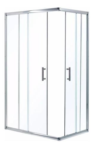 Box De Ducha Cabina 80 X 120 Incoloro Sin Receptáculo
