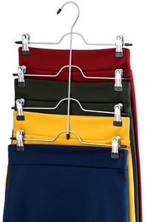 Zober Space Saving 4 Tier Trouser Skirt Hanger (juego De.