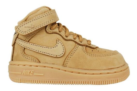 Nike Air Force 1 Mid Lv8 Flax Wheat 3c 17.5 Br 9cm Novo
