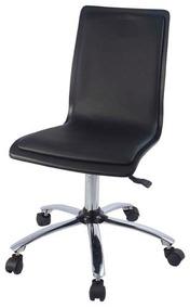 Cadeira De Computador Preta Laminada Goods Br 87x36x40cm
