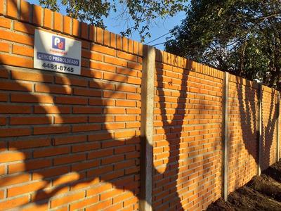 Pared Cercos De Hormigón Premoldeado..simil Ladrillo Vista.
