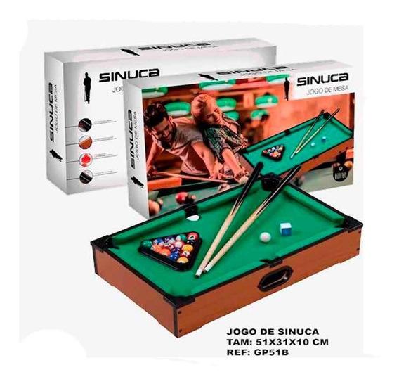 Jogo Mini Bilhar Snooker Sinuca Games De Madeira Portátil