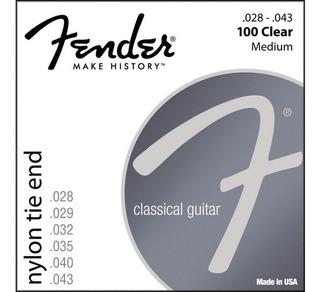 Cuerdas Nylon Fender Para Guitarra