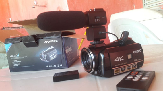 Filmadora Ordro Ac3 4k Wi-fi Com Microfone