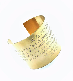 Bracelete Ave Maria Banho Ouro 18k 1622