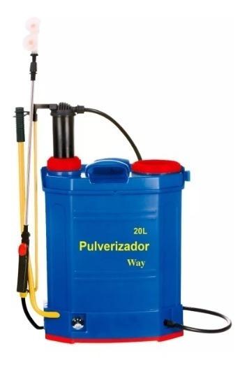Pulverizador 2x1 Elétrico E Manual Costal 20l Bateria 2 Em 1