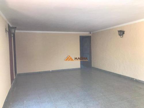 Casa Com 4 Dormitórios, 189 M² - Venda Por R$ 580.000,00 Ou Aluguel Por R$ 2.900,00/mês - Jardim Paulista - Ribeirão Preto/sp - Ca2637