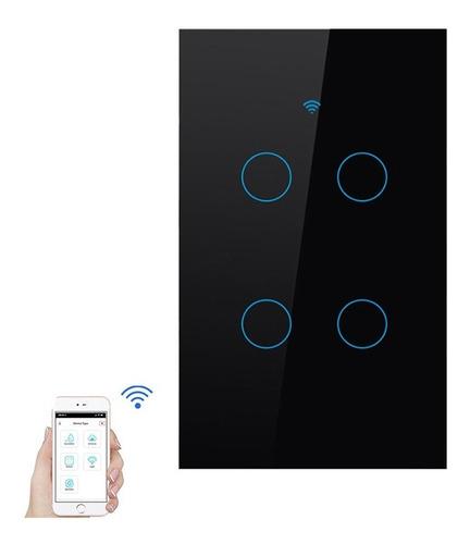 Interruptor Tactil Inteligente Wifi Domotica (4 Botones)