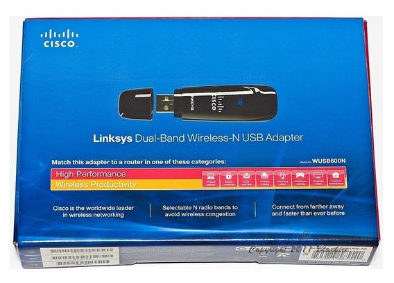 Placa De Red Wifi Usb Linksys Wusb600n Wireless-n Dual Band