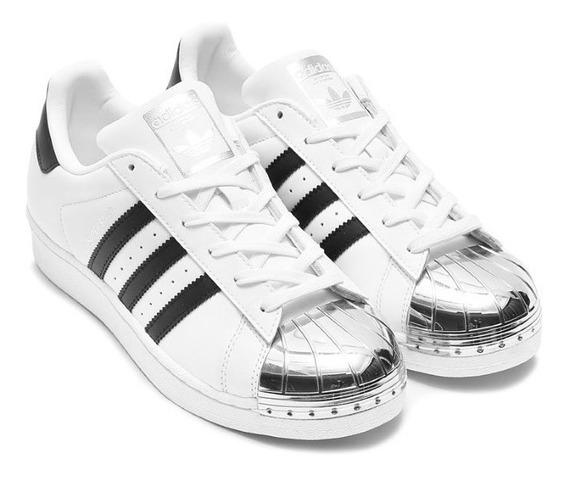 Adidas Superstar Con Puntera Plateada Zapatillas en