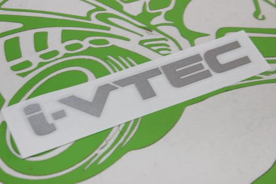 Adesivo I-vtec Honda Crv Prata Estampado 3m Importado