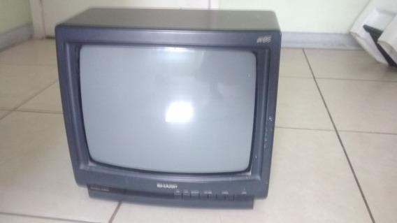 Tv Sharp 14 -modelo Wise-com Controle Remoto