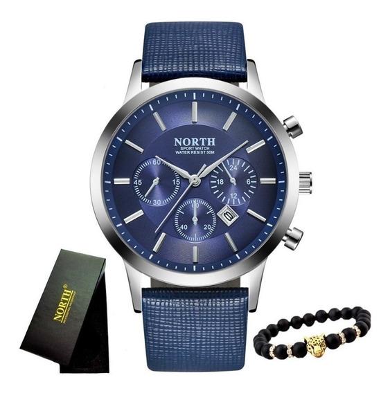 Relógio Masculino Luxo Casual Sport Lançamento 2019 + Brinde